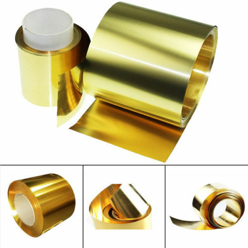Brass Metal Thin Sheet Foil Plate 0 02x100x1000mm