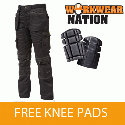 Apache Holster Knee Pad Trouser Work wear Cordura APKHT- BLACK - FREE KNEE PADS