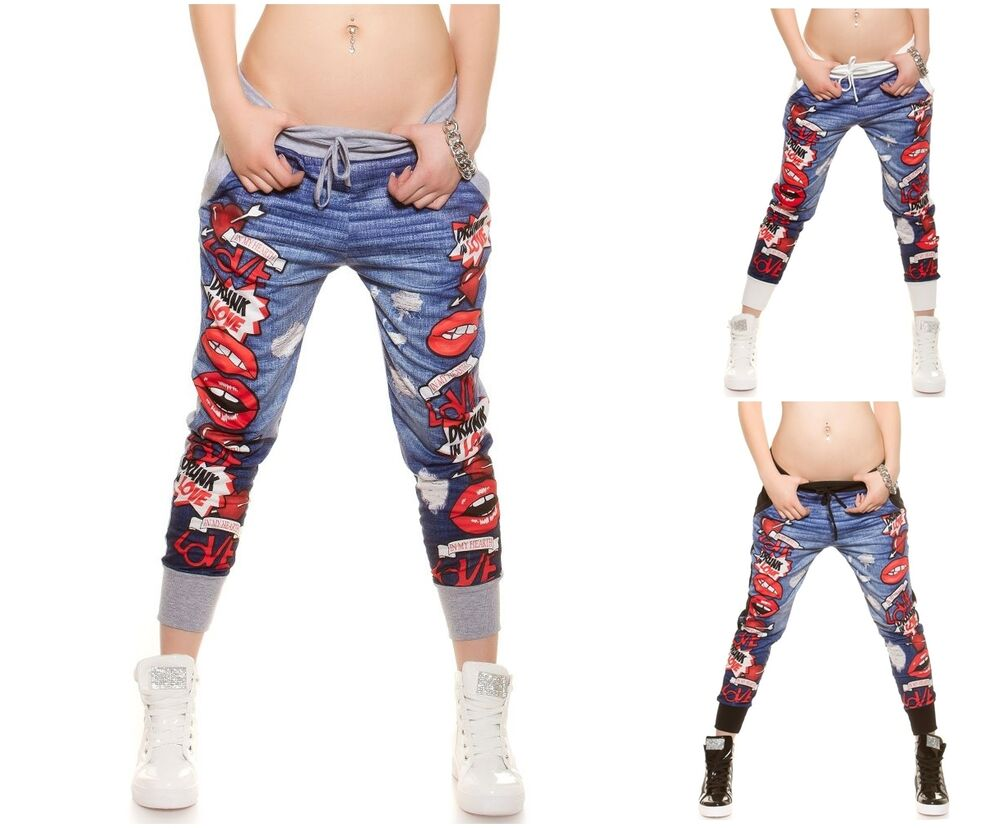 Ladies Pants Funky Print Sport Trousers Running Fitness Gym Joggers ... 34bef25fdfb5