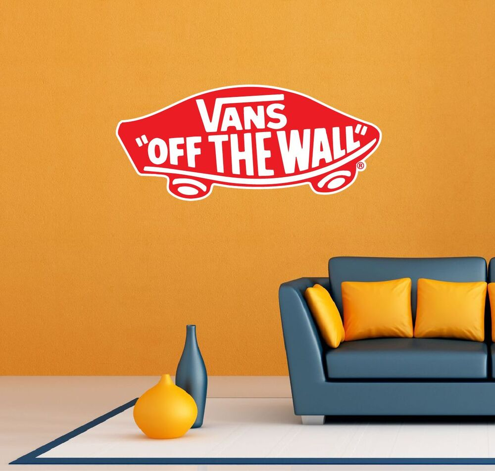 Vans Off The Wall Surfing Skateboarding Wall Garage Decor