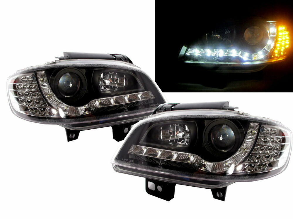 ibiza 1999 2002 6k2 projector headlight led drl r8look. Black Bedroom Furniture Sets. Home Design Ideas
