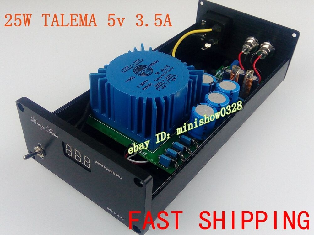 New 25w Talema Ultra Low Noise Lps Dc 5v 3 5a Linear Power