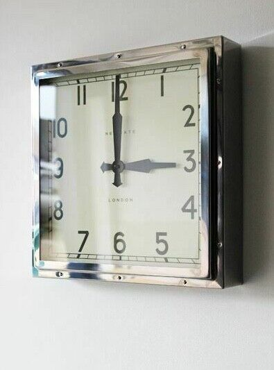 Restoration Hardware Ebay: Wall Clock Vintage London Retro Modern Square Iconic