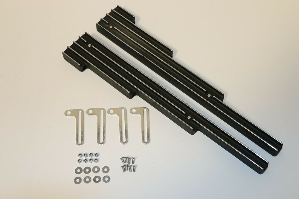 Black Finned Polished Aluminum Spark Plug Wire Looms Holders SBC BBC ...