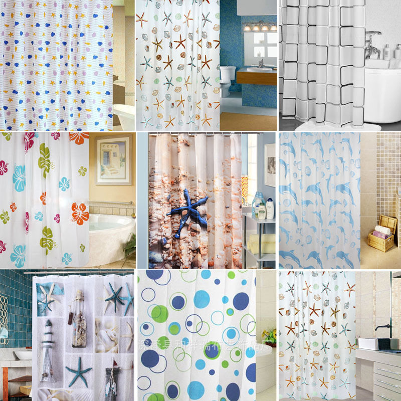 1pc Waterproof Bathroom Shower Curtain Liner With Metal Grommets Many Colors Ebay