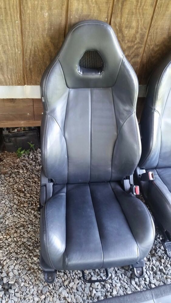 2001 Mitsubishi Eclipse Spyder >> MITSUBISHI ECLIPSE FRONT LEATHER PASSENGER SEAT WITH AIR BAG + REAR SEAT | eBay