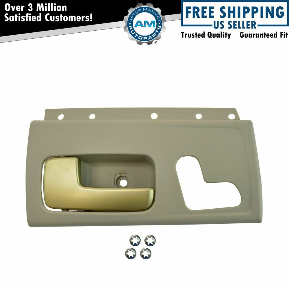 front interior door handle driver side lh lf beige gold for lincoln town car ebay. Black Bedroom Furniture Sets. Home Design Ideas