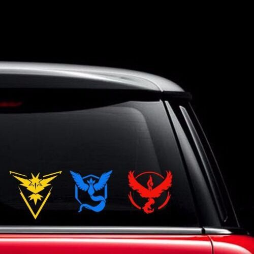 Details about Pokemon Go Vinyl Decal - Team Instinct, Mystic, Valor Window laptop phone tablet