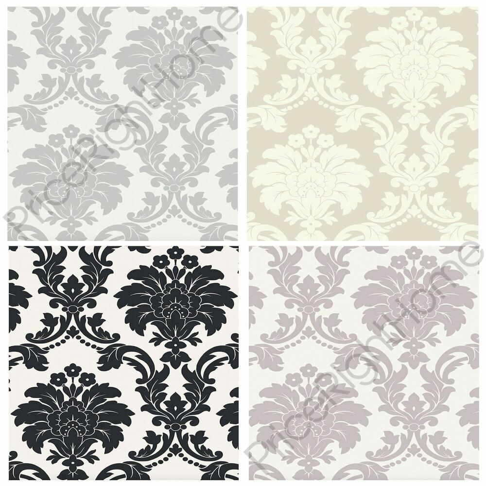 Arthouse Romeo Damask Wallpaper Feature Wall Decor Bedroom