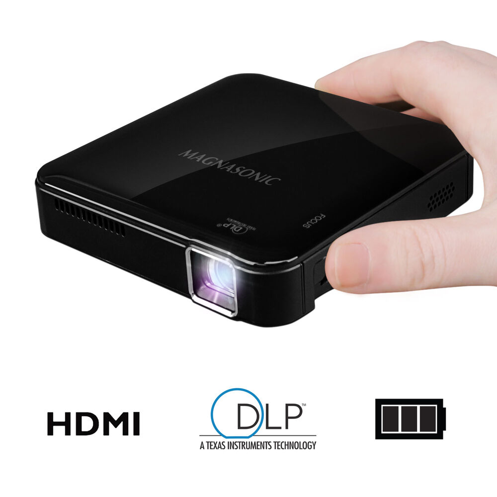 Magnasonic mini portable pico video projector hdmi for Hdmi pocket projector