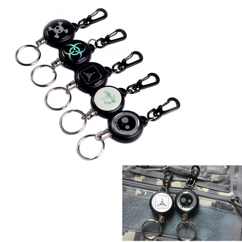 Edc outdoor steel rope keychain tactical retractable key for Survival rope keychain