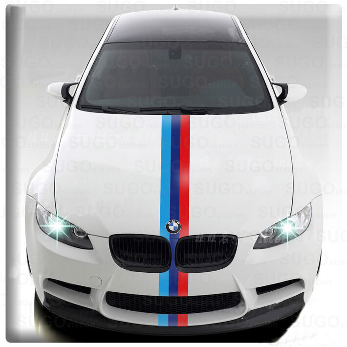 Bmw M Power 3 Colored European Car Racing Decal Diy Vinyl Sticker Wrap Paint Ebay