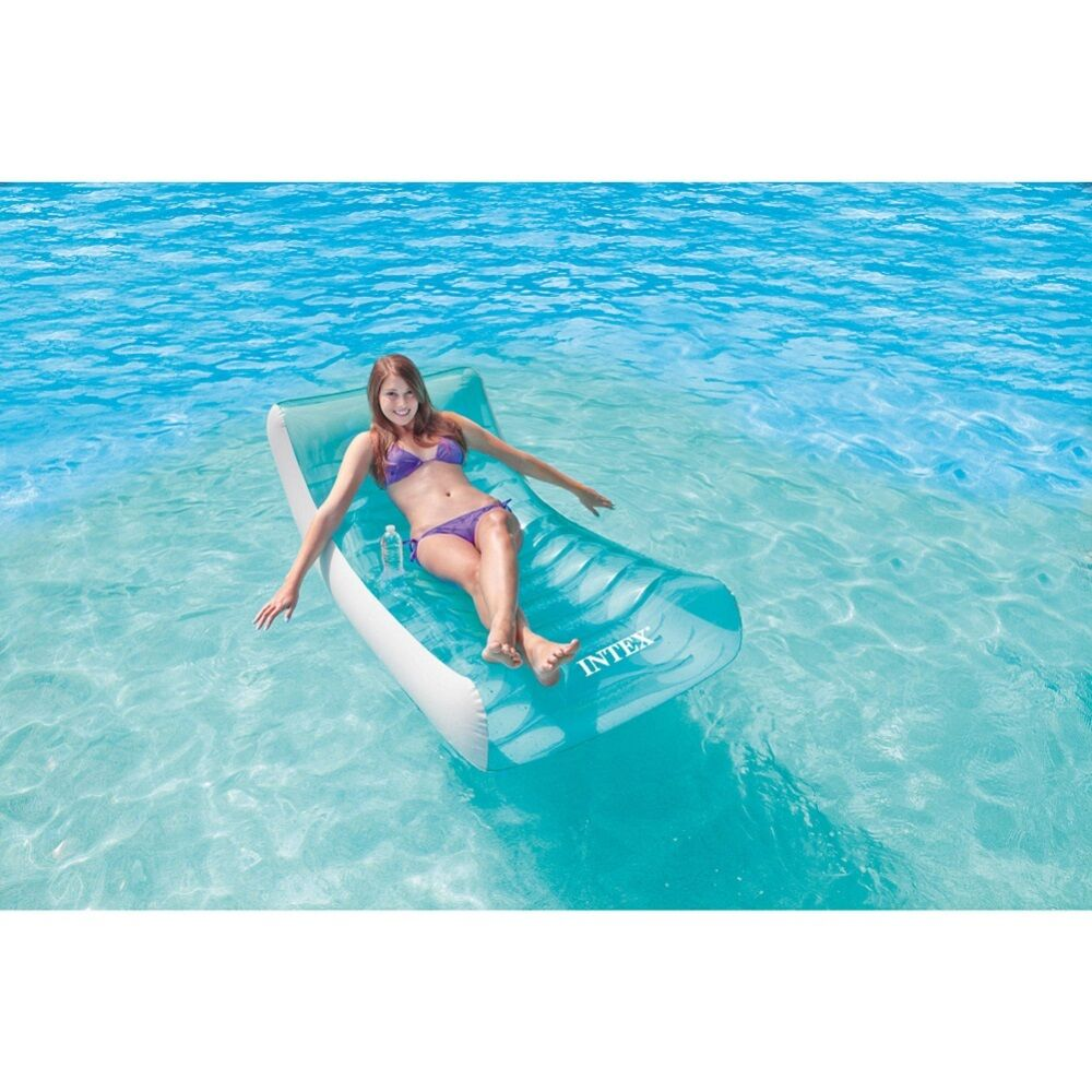 Swimming pool float inflatable water rocking lounge chair for Swimming pool loungers