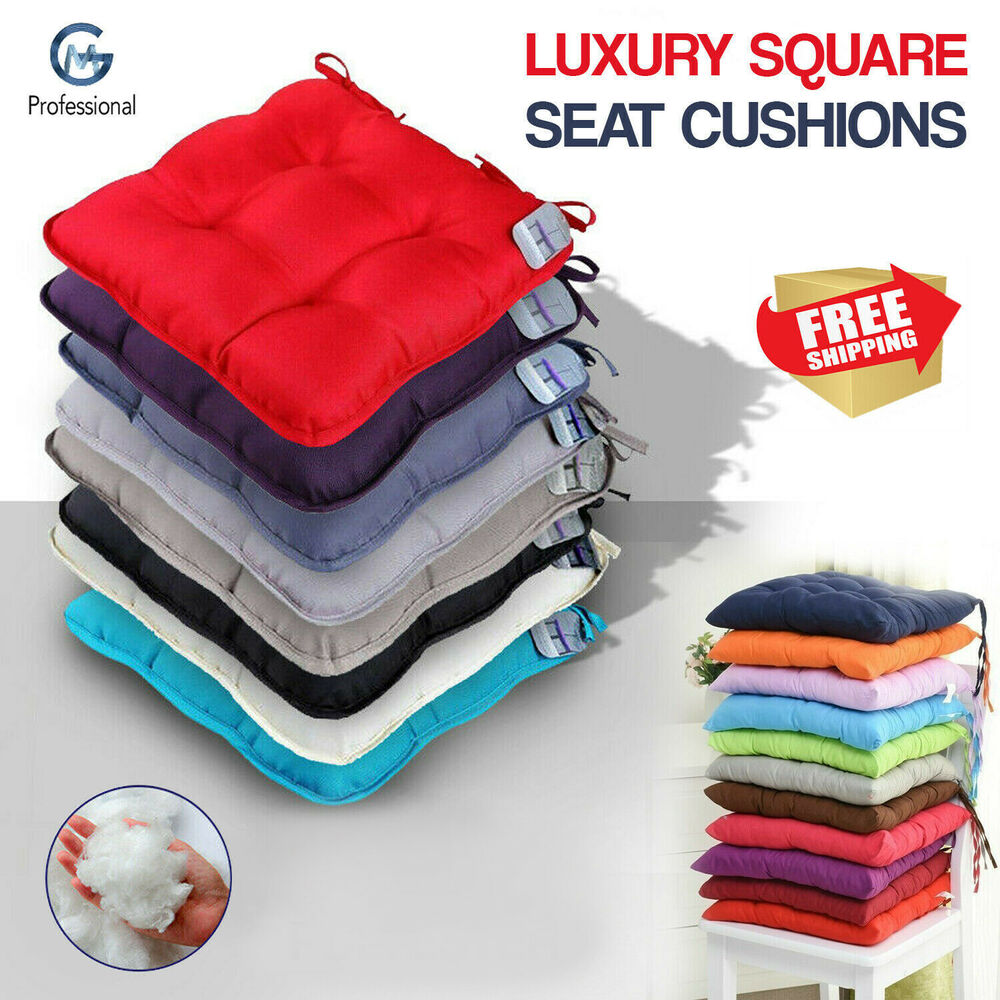 Luxury Tie On Removable Seat Pads Chair Foam Cushion
