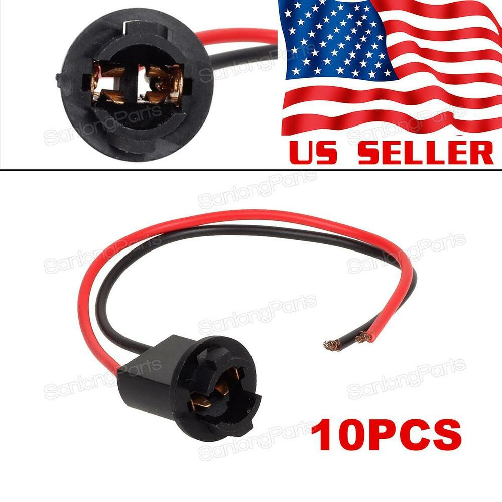 10pcs t10 harness plug connector wiring sockets pigtail ... t10 12 volt wire harness #3
