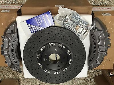 GM OEM Brembo 2009-13 Chevy Corvette Z06 ZR1 Front Gray Calipers + Carbon rotors