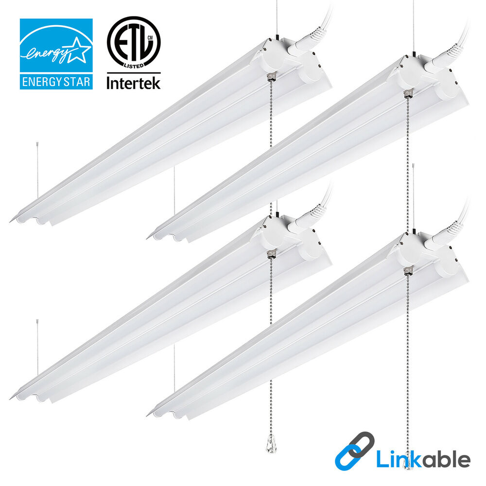 Hyperselect Led Shop Lights 4ft Garage Utility Led Light: 4-PACK 4ft 40W LED Utility Shop Light, Cool White 4000K