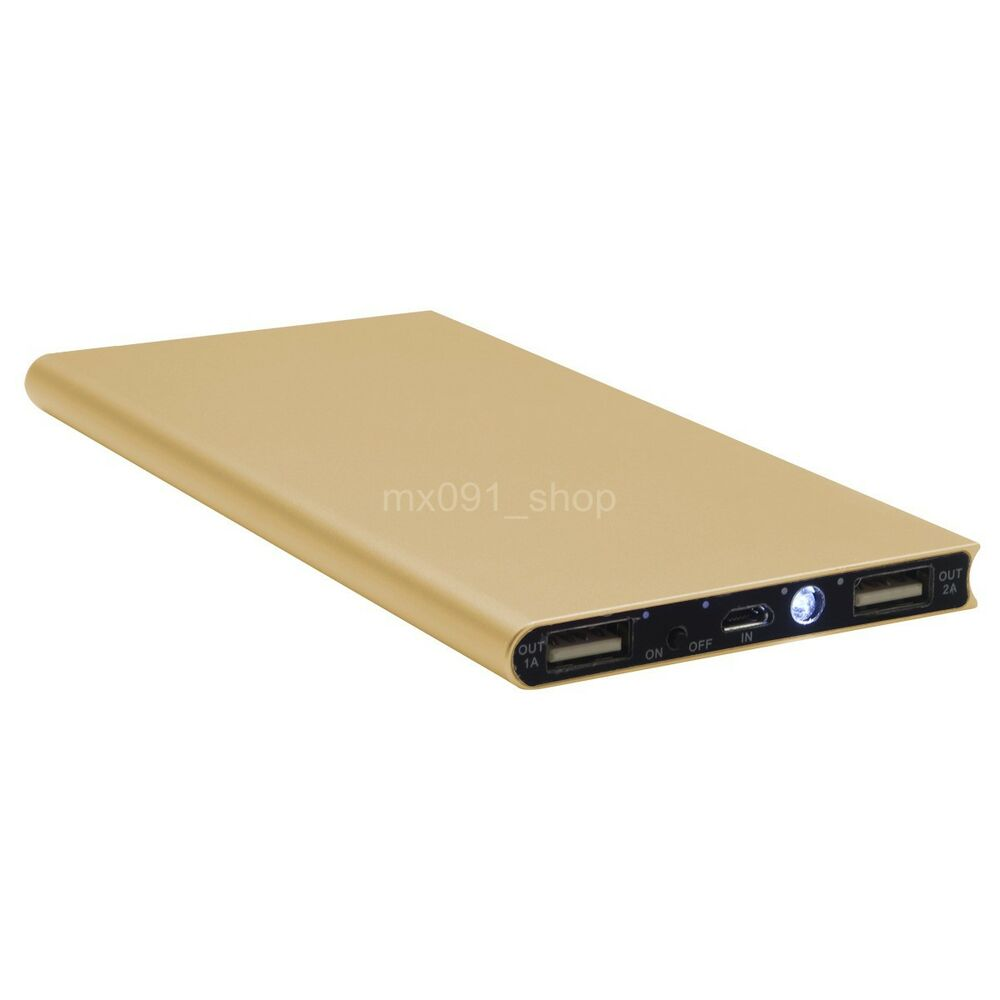 50000mah slim power bank external battery usb portable charger with 2 in 1 cable ebay. Black Bedroom Furniture Sets. Home Design Ideas