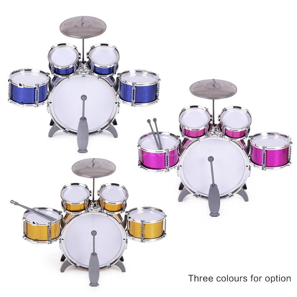 High Quality Plastic Pink Drum Set Birthday Xmas Gift For
