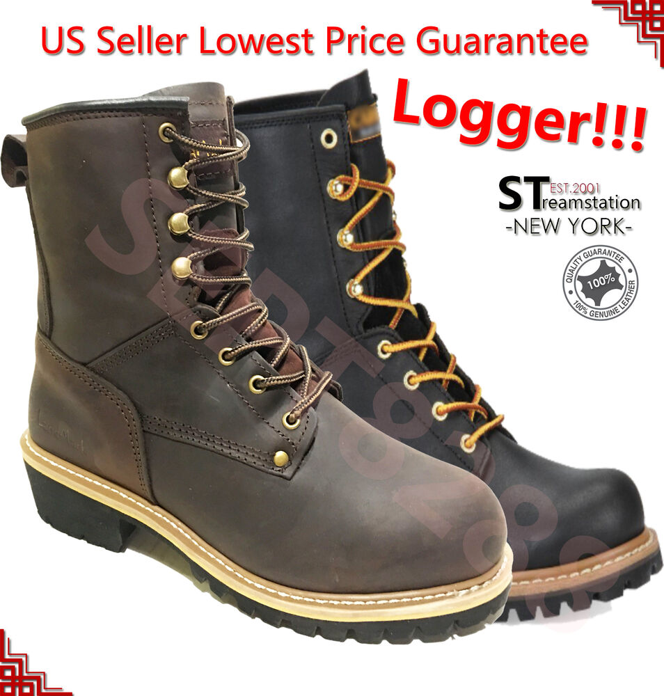 Details about LM Men s Work Boots Rugged Pioneer Logger Boot Steel Toe Good  Year Welt 5001ST 1a98e7a34cf6
