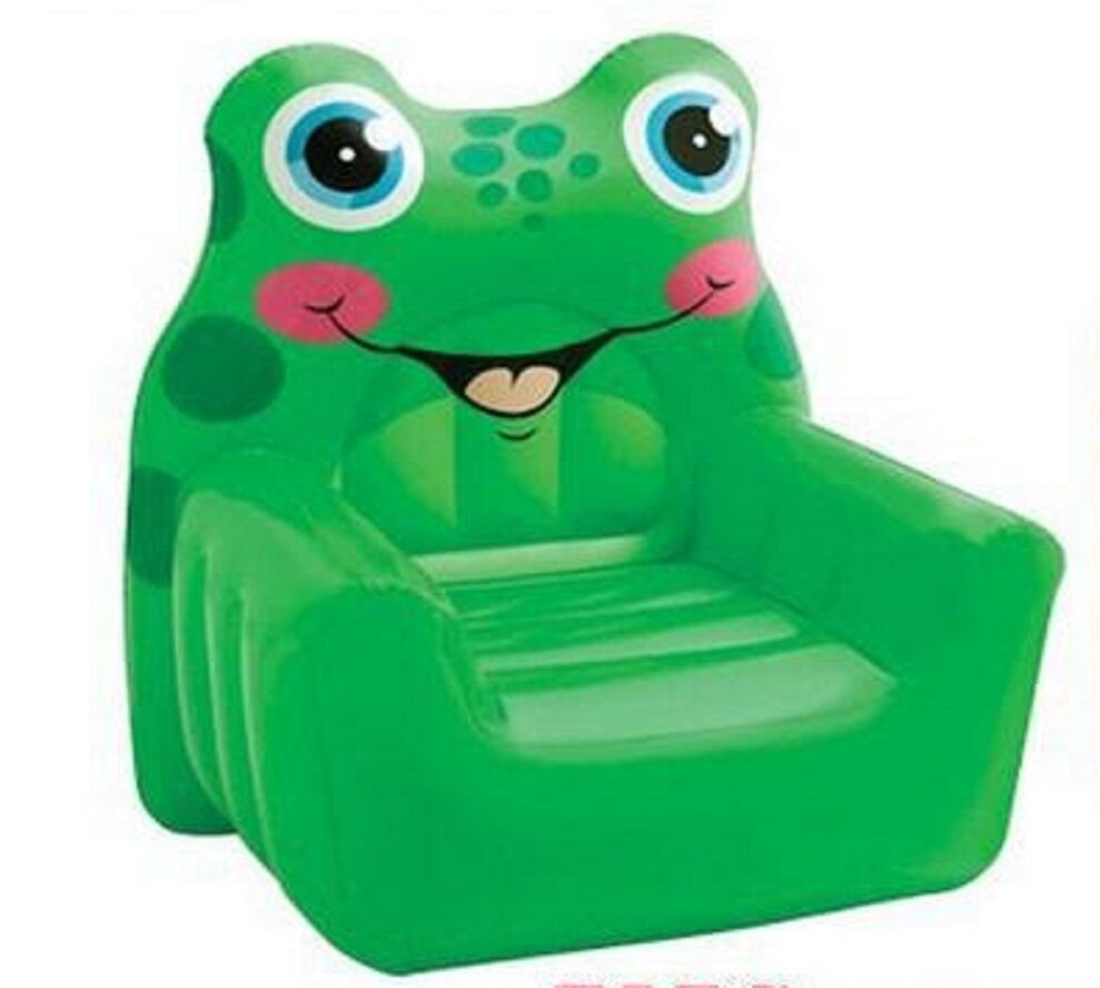 intex 68596 luftsessel sessel f r kinder frosch spiel ebay. Black Bedroom Furniture Sets. Home Design Ideas