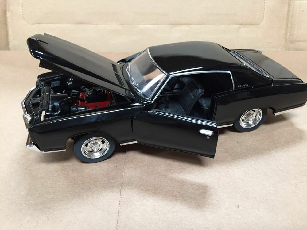 1 24 1970 chevy monte carlo ss454 black by saico without box ebay. Black Bedroom Furniture Sets. Home Design Ideas