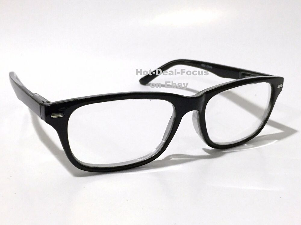 high strong reading glasses black frame hinges with