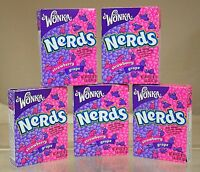 Wonka Nerds 2 Boxes Strawberry & Grape Retro Candy Sweets, American USA