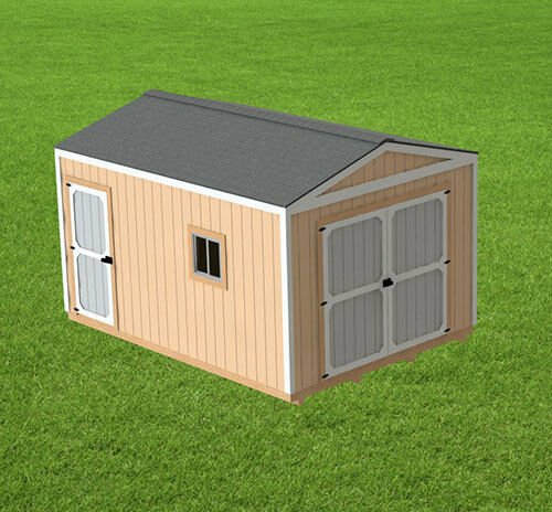 12 X 16 Garden Shed Detailed Building Plans Ebay