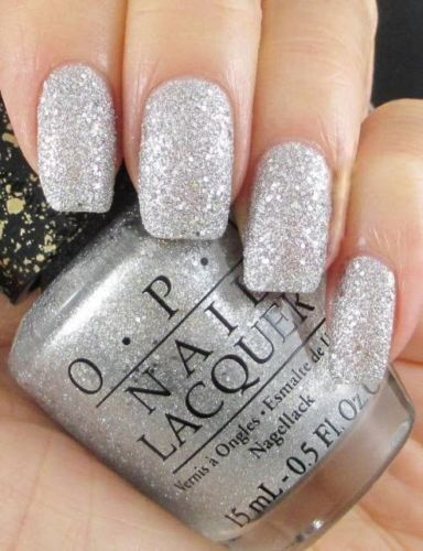 "Opi White Gel Nail Polish: OPI Nail Polish ""It's Frosty Outside"" Liquid Sand Silver"