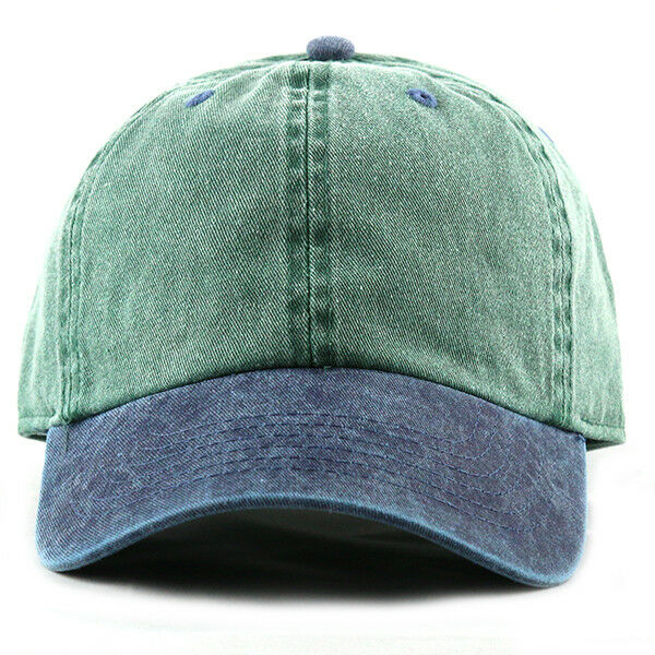 1633324f9ee Details about NEWHATTAN 1201 TWO TONE PIGMENT DYED ADJUSTABLE BASEBALL CAP  HAT NEW 100% Cotton