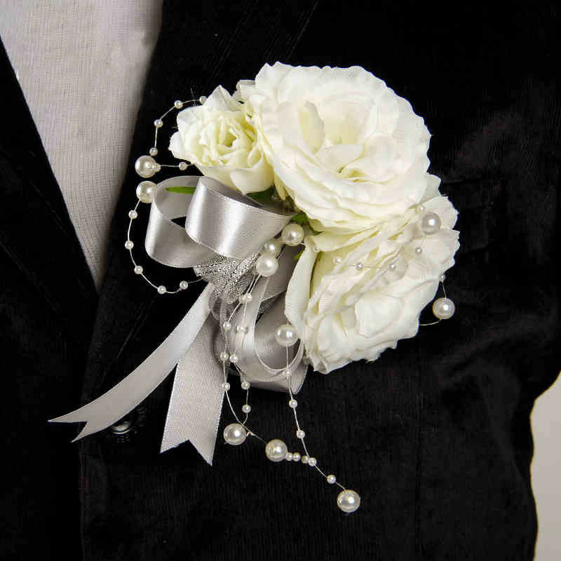 Wedding Flowers Corsage Ideas: 2017 Groom Boutonniere Best Man Corsage Flower Wedding