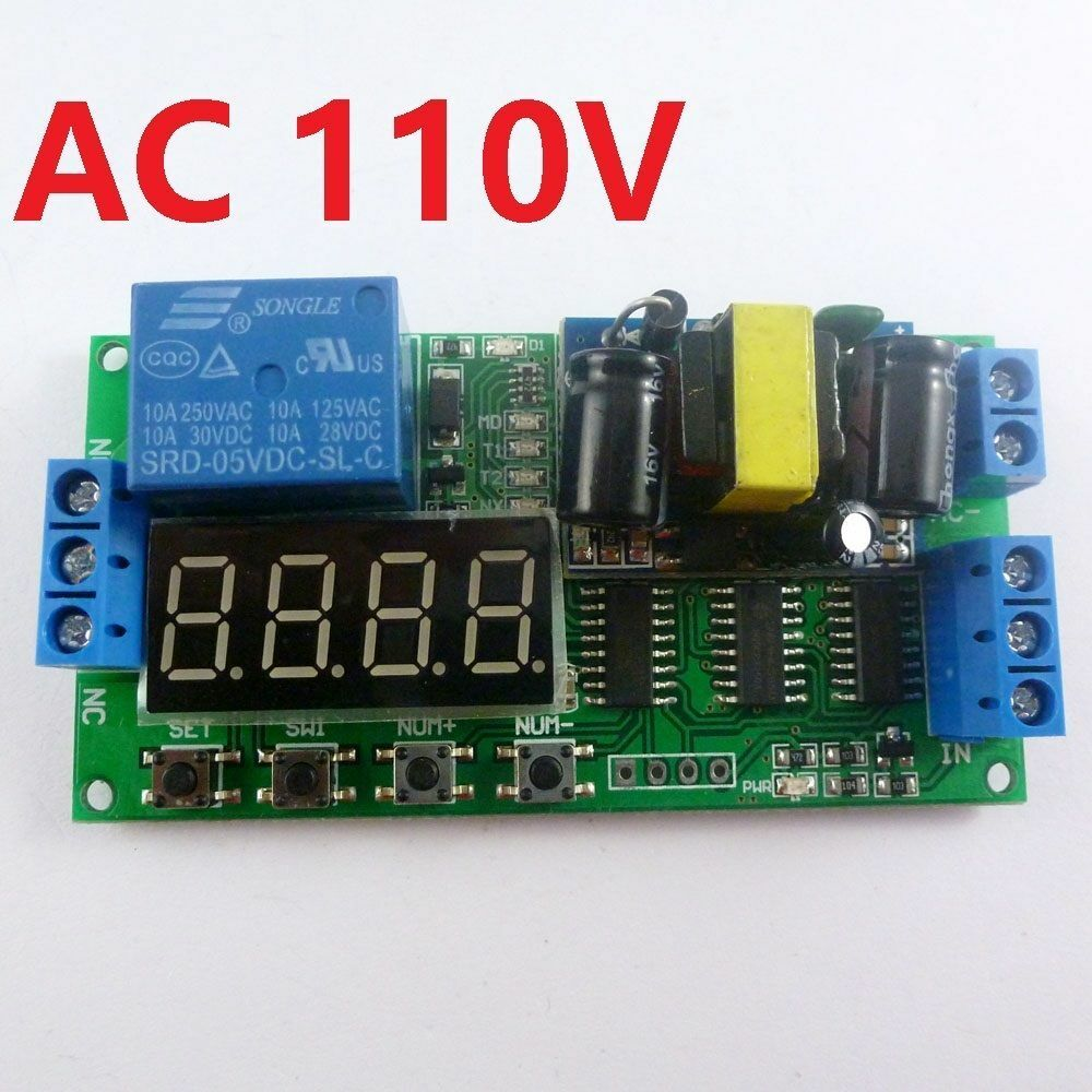 110v Ac Cycle Time Timer Switch Delay Relay On Off Repeat