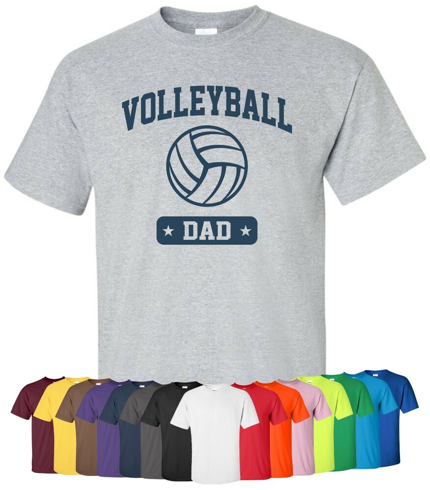 Personalized volleyball dad t shirt sz s 4xl sports team for Unique custom t shirts