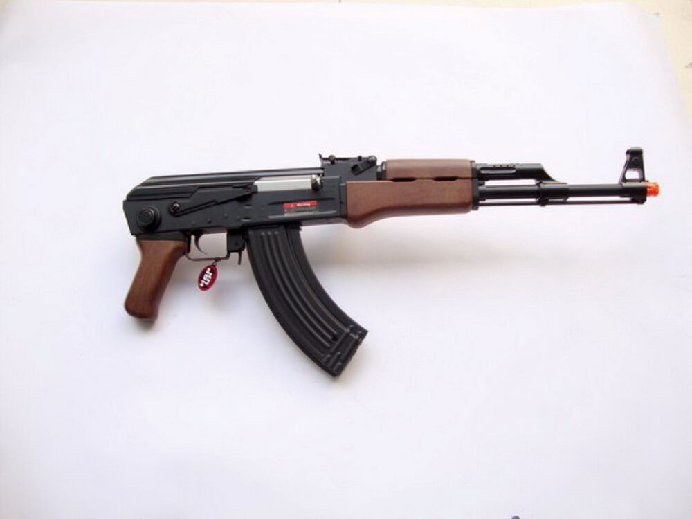 jg tactical ris ak 47 airsoft electric gun full auto powerful 400 fps black ebay. Black Bedroom Furniture Sets. Home Design Ideas