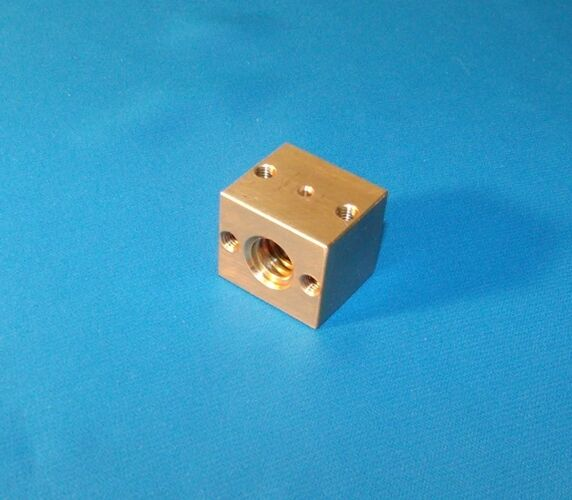 1/2-10 ACME BRASS NUT BLOCK For Right Hand Acme Threaded