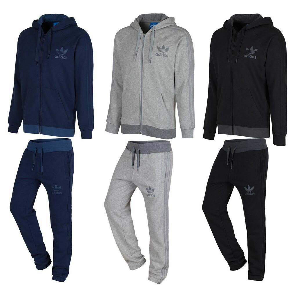 Adidas Originals Men S Spo Full Tracksuit Navy Grey Black