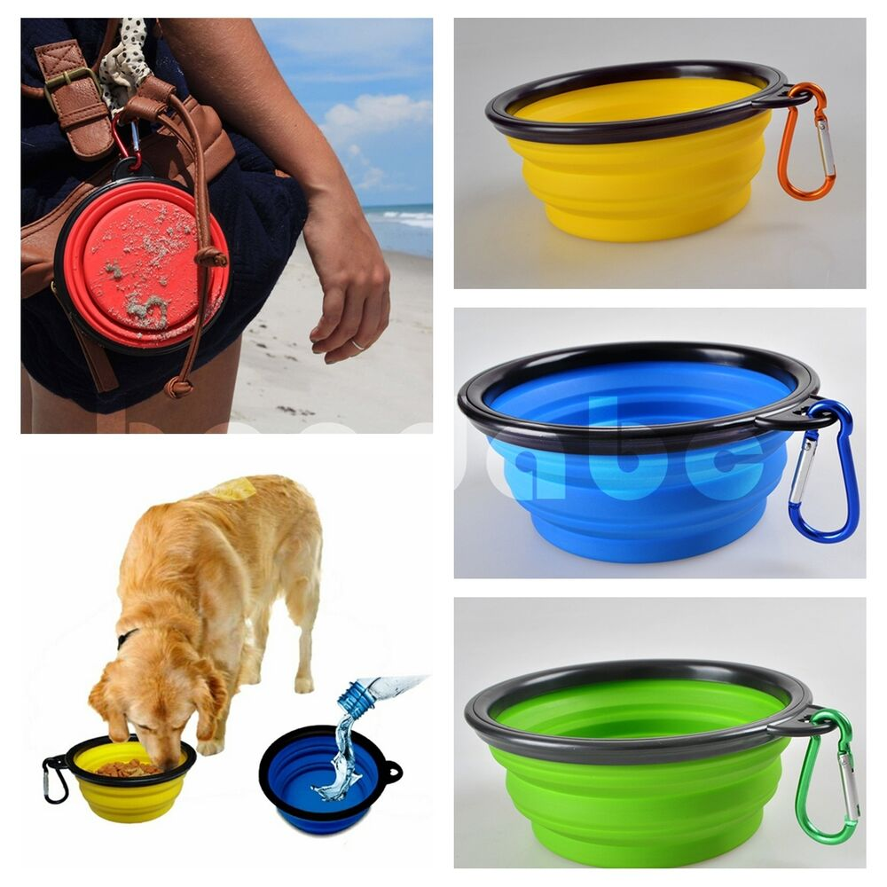 Portable Dog Water Bowls Bowl For Large Breed Dogs Premium: TPU Travel Portable Collapsible Cat Dog Pet Food Water