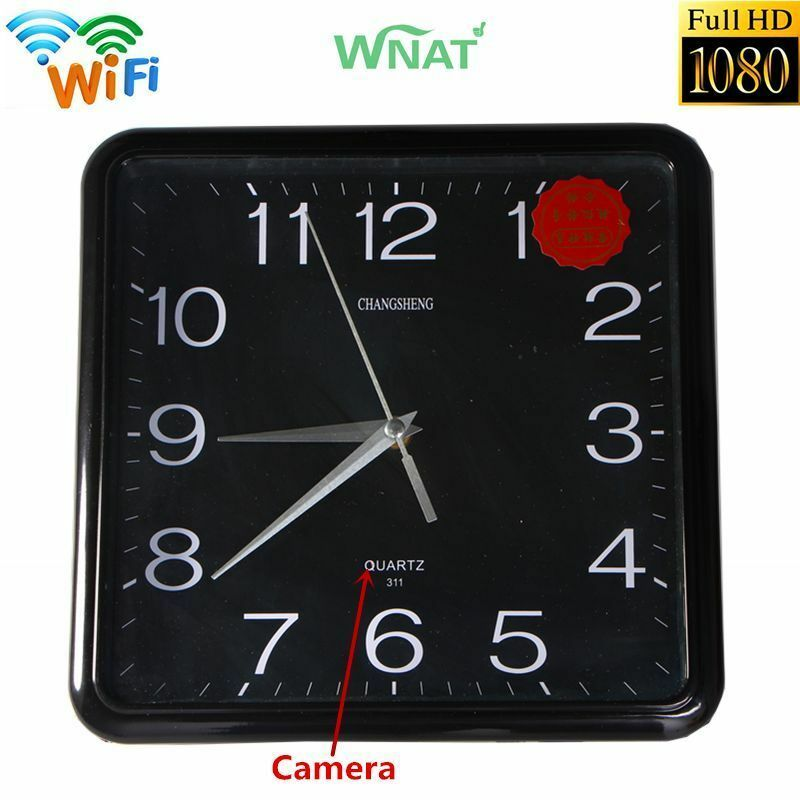 Mini 1080p Wifi Hd Spy Hidden Ip Camera Dvr Wall Clock Real Time Video Nanny Cam Ebay