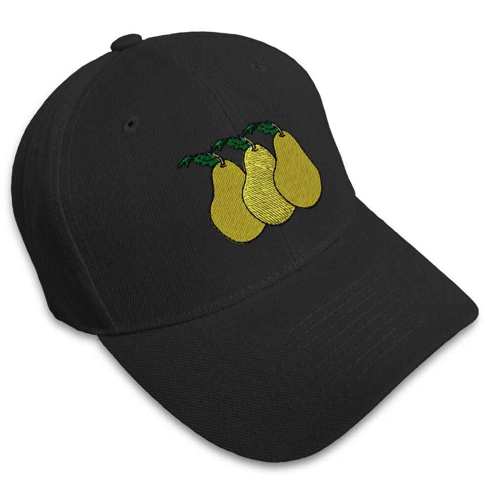 Pears embroidery embroidered adjustable hat baseball cap