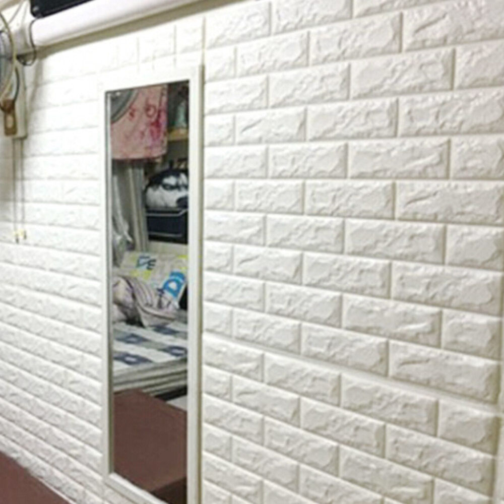 3D Brick Waterproof Wall Sticker Self-adhesive Panels