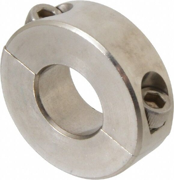Quot bore two piece clamp on shaft collar stainless steel