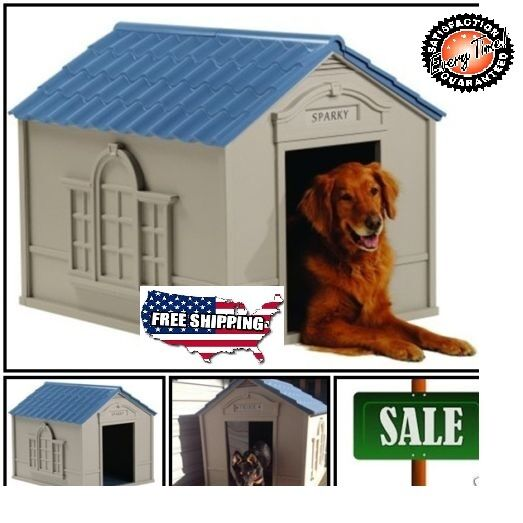Rugged Large Dog House: X-Large Dog House Deluxe Big Dogs All Weather Outdoor