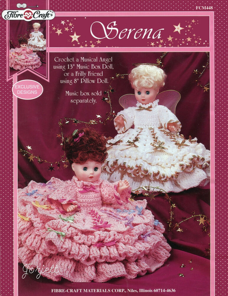 Serena fibre craft 13 doll and 8 pillow doll crochet for Fibre craft 18 inch doll