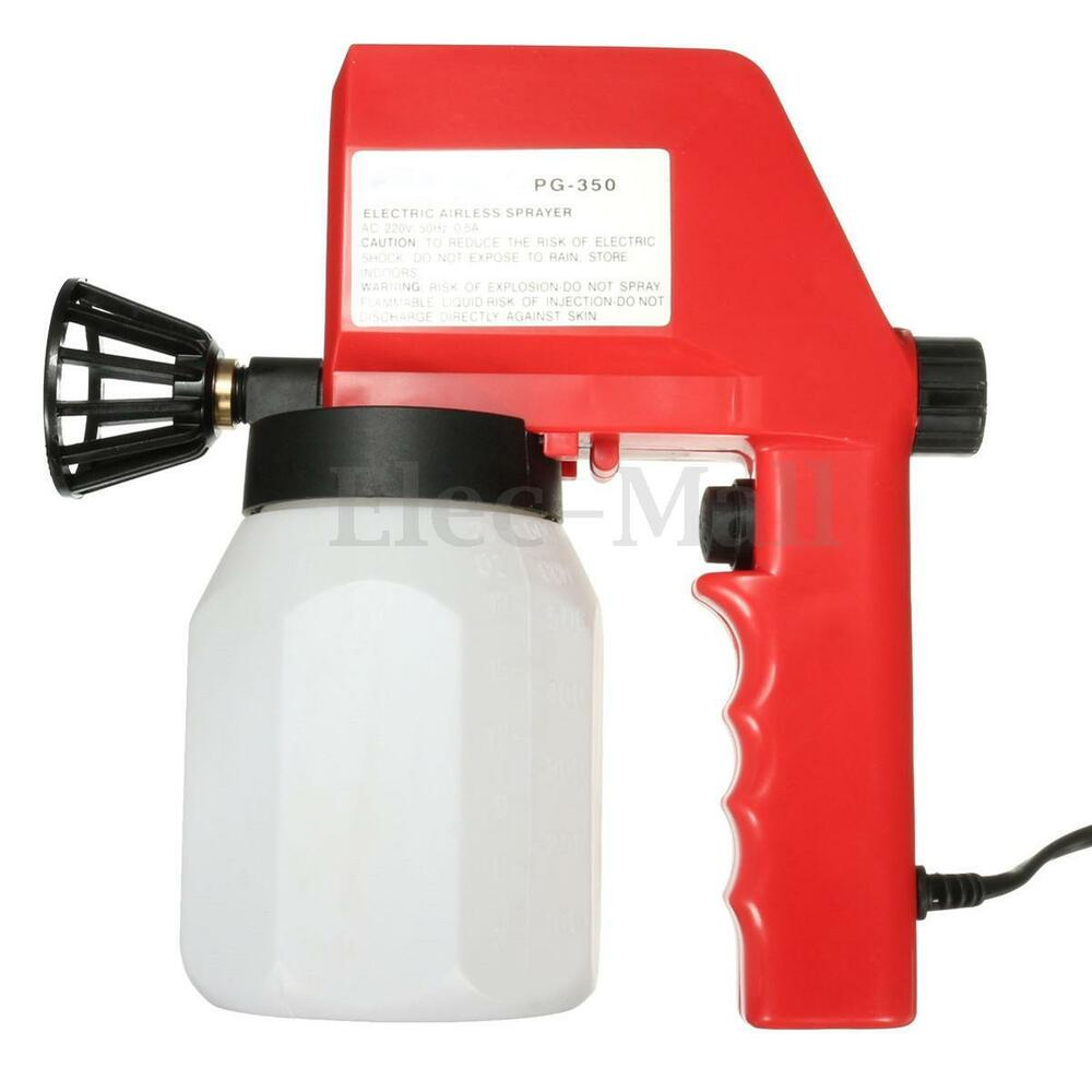 Electric air less paint spray gun airless house fence for Air or airless paint sprayer