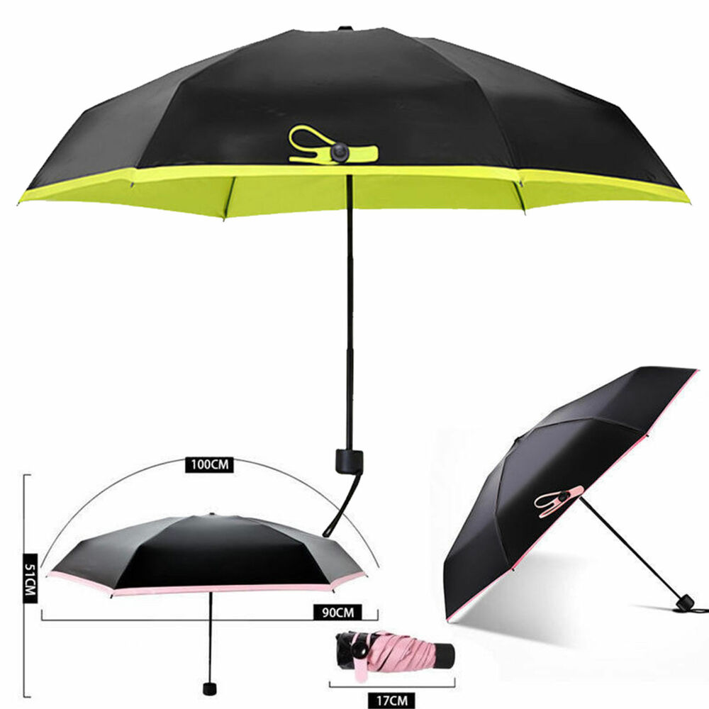 folding mini lightweight umbrella compact windproof anti uv rain sun parasol ebay. Black Bedroom Furniture Sets. Home Design Ideas