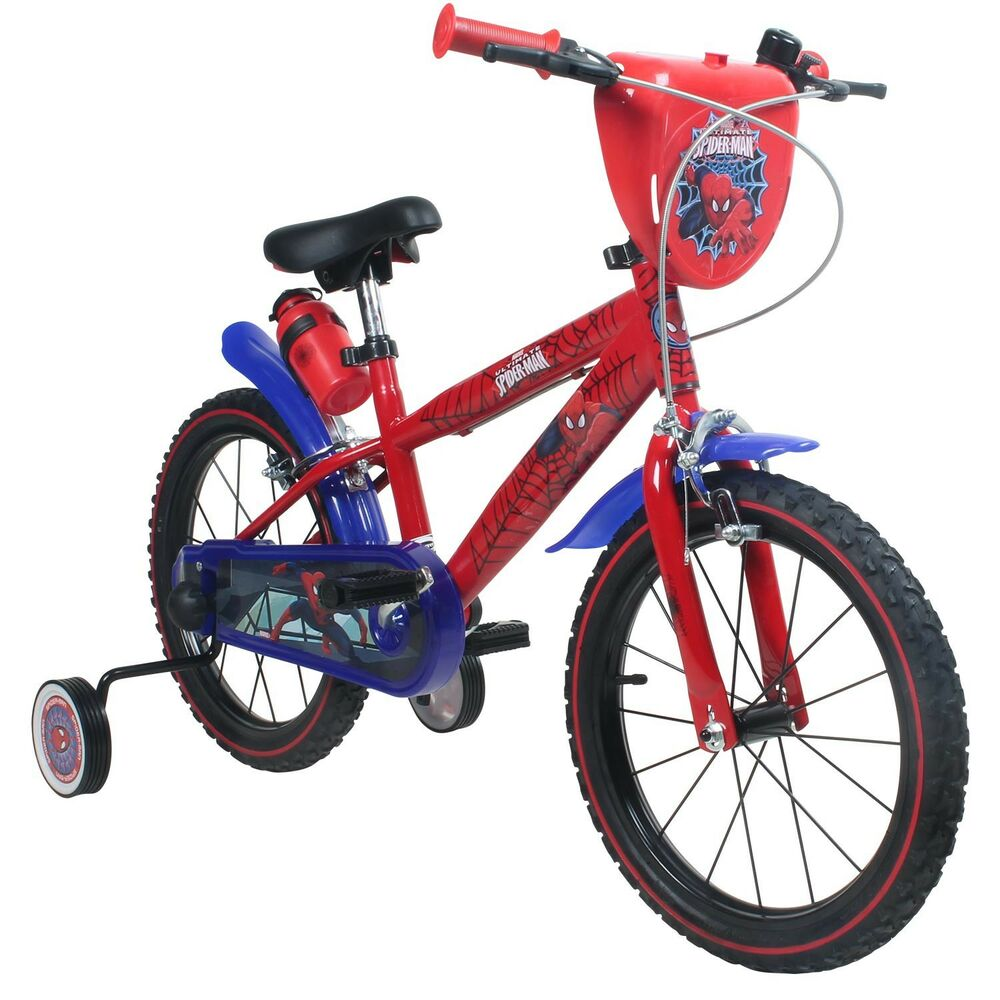kinderfahrrad 16 zoll marvel spiderman fahrrad f r kinder. Black Bedroom Furniture Sets. Home Design Ideas