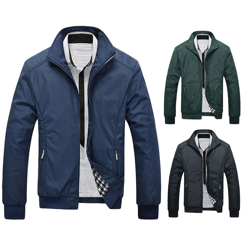 mens jacket summer lightweight bomber coat casual outfit