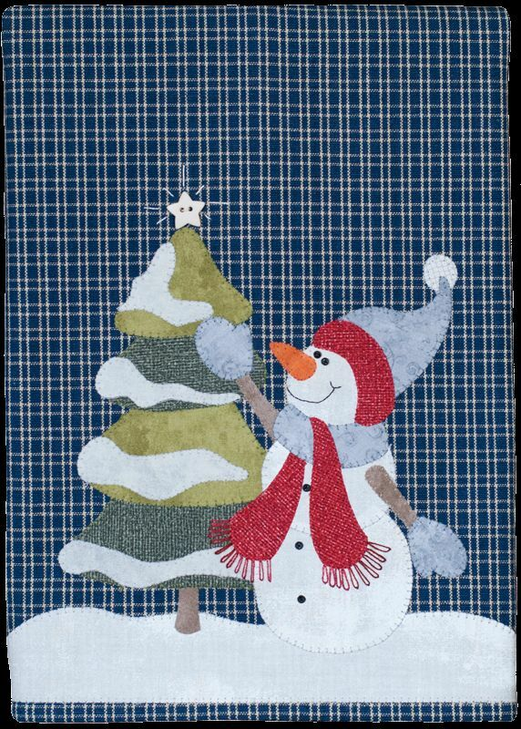 Joyful Snowman Wooden Bear Quilt Designs Christmas