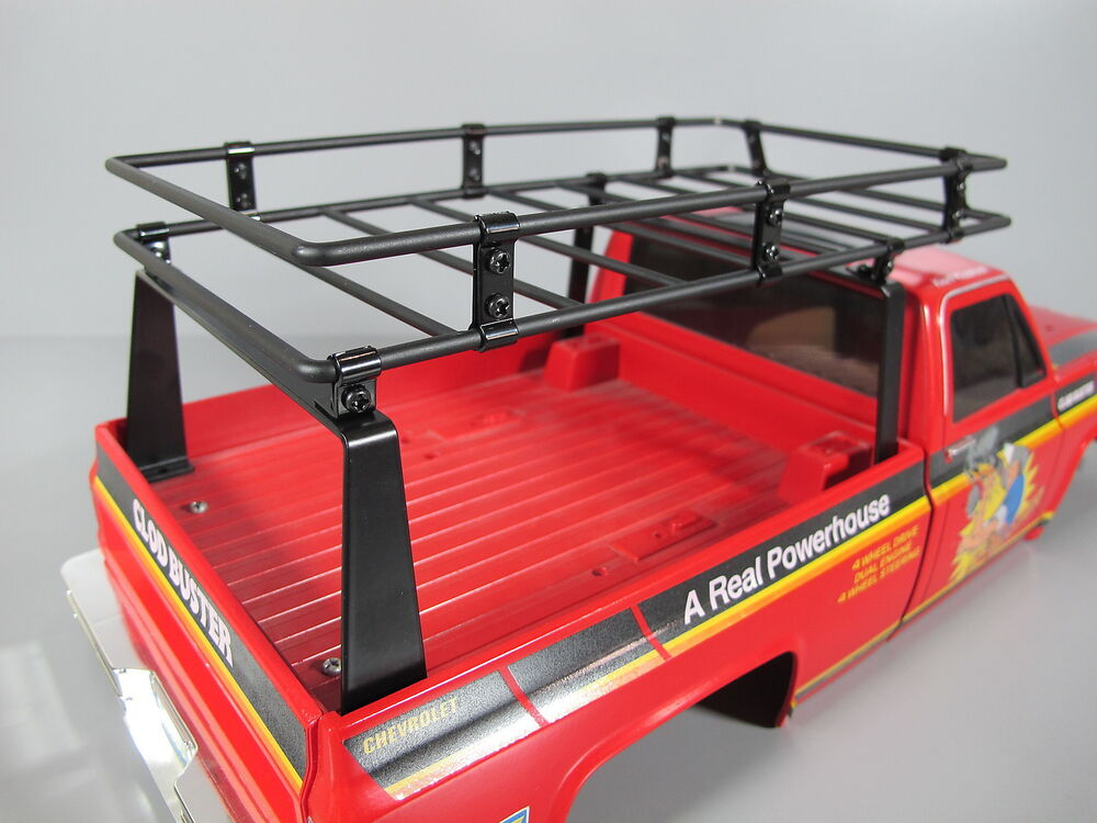 Toyota Tundra Roof Rack >> New Add-On Steel Cargo Bed Roof Rack for Tamiya R/C 1/10 Super Clodbuster Truck | eBay
